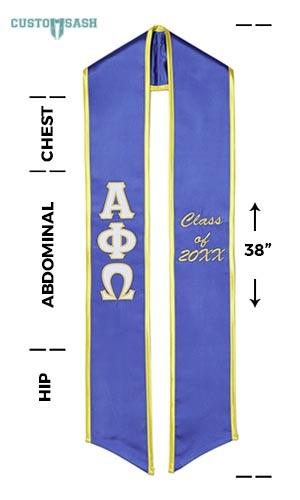 Custom Sash Alpha Phi Omega Graduation Sash Stole