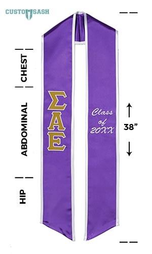 Custom Sash Sigma Alpha Epsilon Graduation Sash Stole