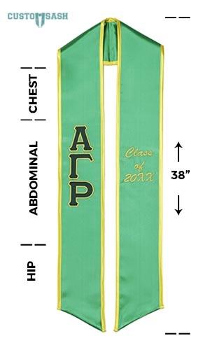Custom Sash Alpha Gamma Rho Graduation Sash Stole