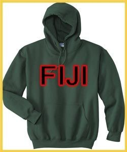 Fiji Flag Country Chest Pullover Hoody Hoodie