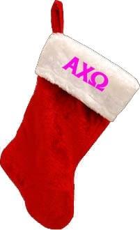 Letter Christmas Stockings.Holiday Greek Letter Stocking